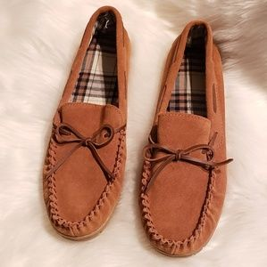 Men leather moccasins size XL13/14 NWOT